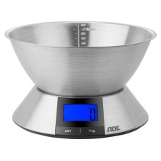 ADE kitchen scale Hanna, stainless steel weighing bowl