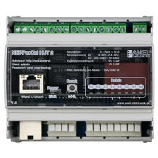 NET-PwrCtrl HUT (DIN Rail) - 100-240V powered internal, Screw-terminals for relays.