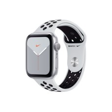 Apple Nike+ Watch 44mm S5 silver GPS Alu, Pure Platinum/Black Nike Sport Band