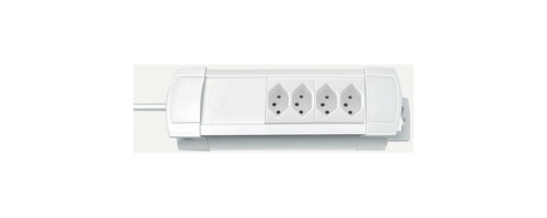 Brennenstuhl Premium-Line Steckdosenleiste, 4xT13, ohne Schalter, white, 1.8m cable