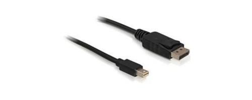Delock Mini-DP auf DP, 2m, V1.2, 4K support, Mini-Displayport for Displayport, black