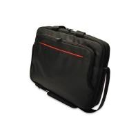 Ednet Superb notebook bag - black with red liner