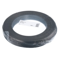 T-Draht 1.5mm2, black, 100m, CU blank, Isolation PVC
