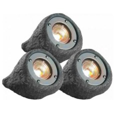 Gardenlights Lapis Steinleuchte 3er Set, 3W, IP68, 110 mm x 145 mm,