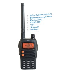 Team TeCom-X5 Radio VHF - 4 Watts - Professional - 136 - 174 MHz