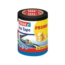 tesa Iso Tape Isolierband, 10mx15mm, 5 Rollen assortiert