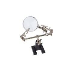 Velleman VTHHN Third hand with magnifying glass, with magnifying glass, magnification x 2.5
