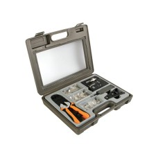 Velleman VTMUS3 Crimping tool kit, with set of RJ11, RJ12, RJ45 plug